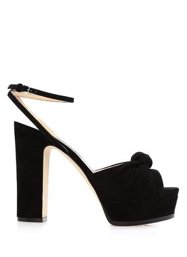 Sergio Rossi Platform Topuklu Sandalet Siyah